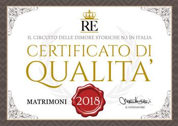 Residenze d'Epoca certifica l'eccellenza di castelli, ville e dimore storiche in Italia