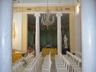 Allestimento per meeting aziendali all'interno del Pantheon